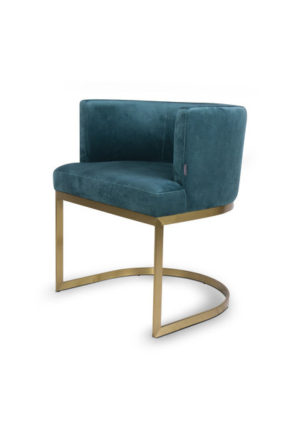 PIMLICO Dining Chair Pine Green Velvet