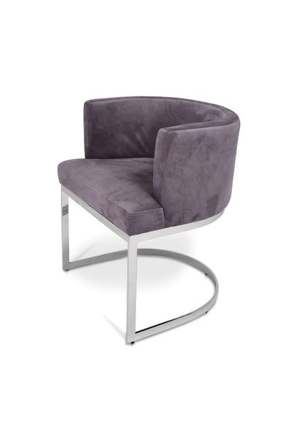 PIMLICO Dining Chair Mid Grey Velvet