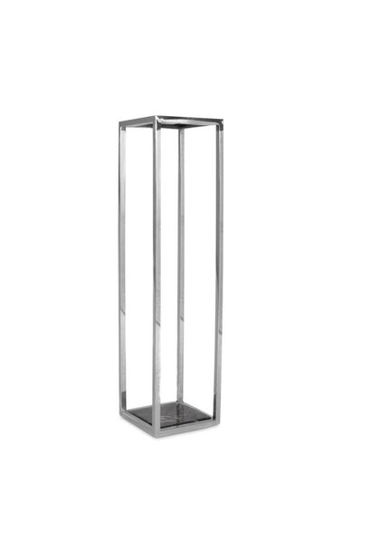 RUBEN Column Silver Black Marble High