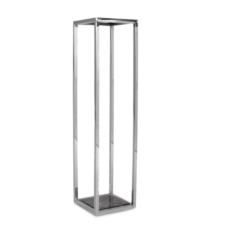 RUBEN Column Silver Black Marble High-1