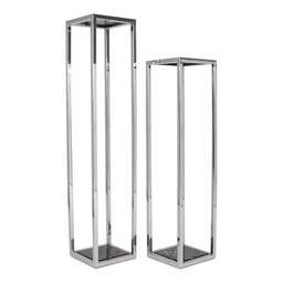RUBEN Column Silver Black Marble High-3