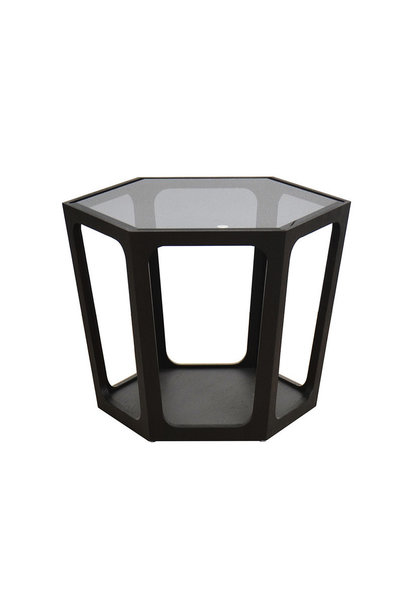 AMADEO Coffee Table Smoke Glass 70cm