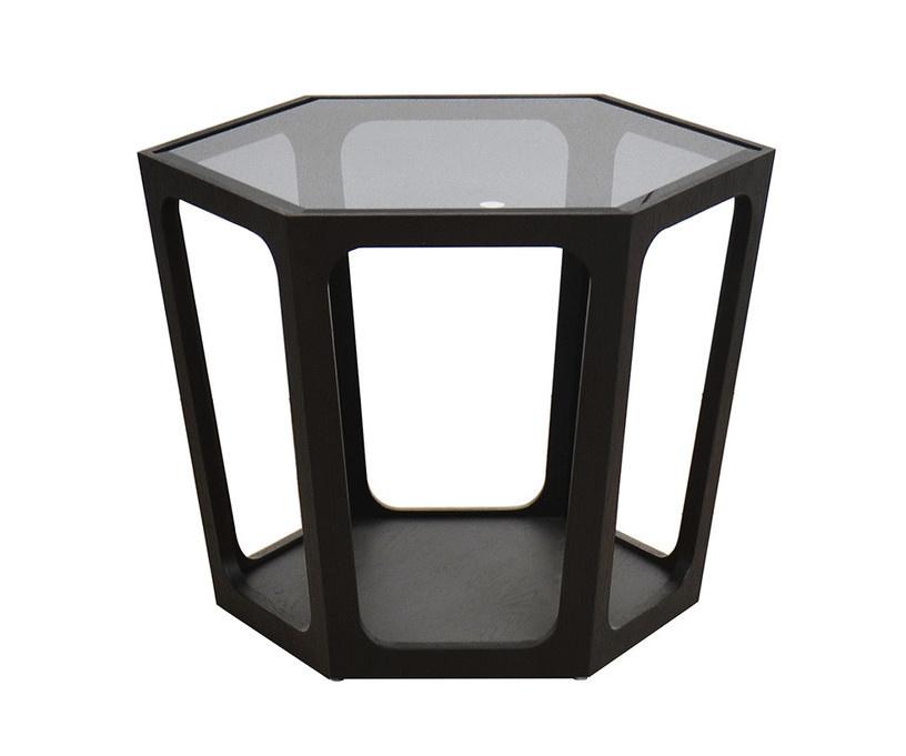 AMADEO Coffee Table Smoke Glass 70cm-1