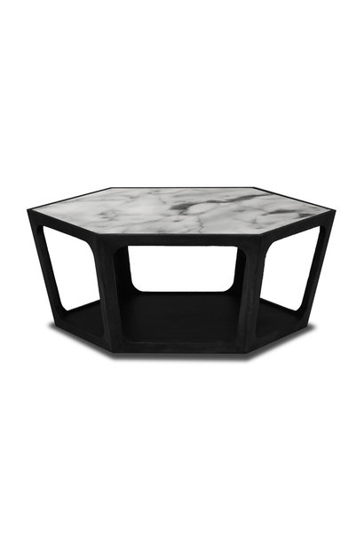AMADEO Coffee Table White Marble 90cm