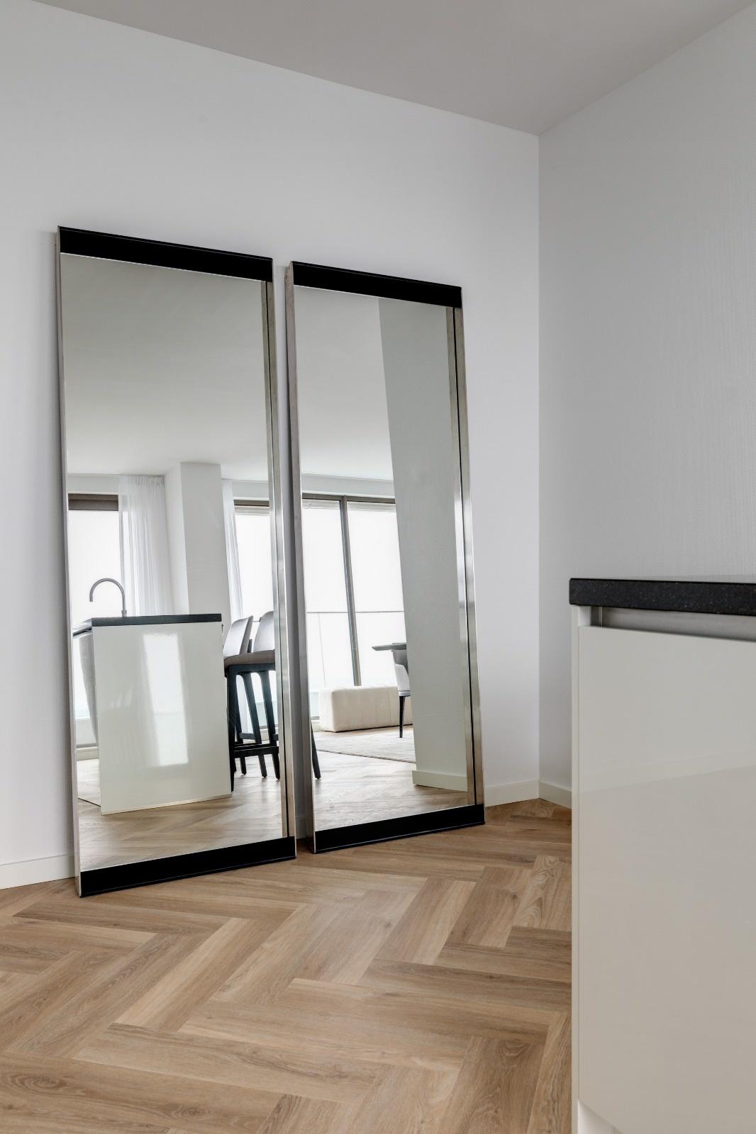 PENTHOUSE Wall Mirror Charcoal Oak 70x200-3