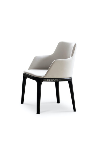 FEBE Dining Chair Beige Leather