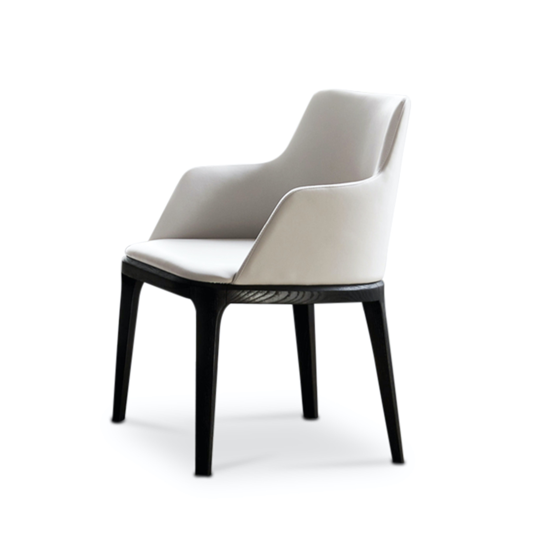 FEBE Dining Chair Beige Leather-1
