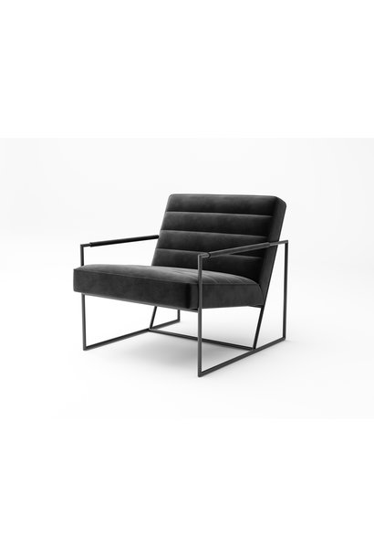 MODENA Arm Chair Black Velvet