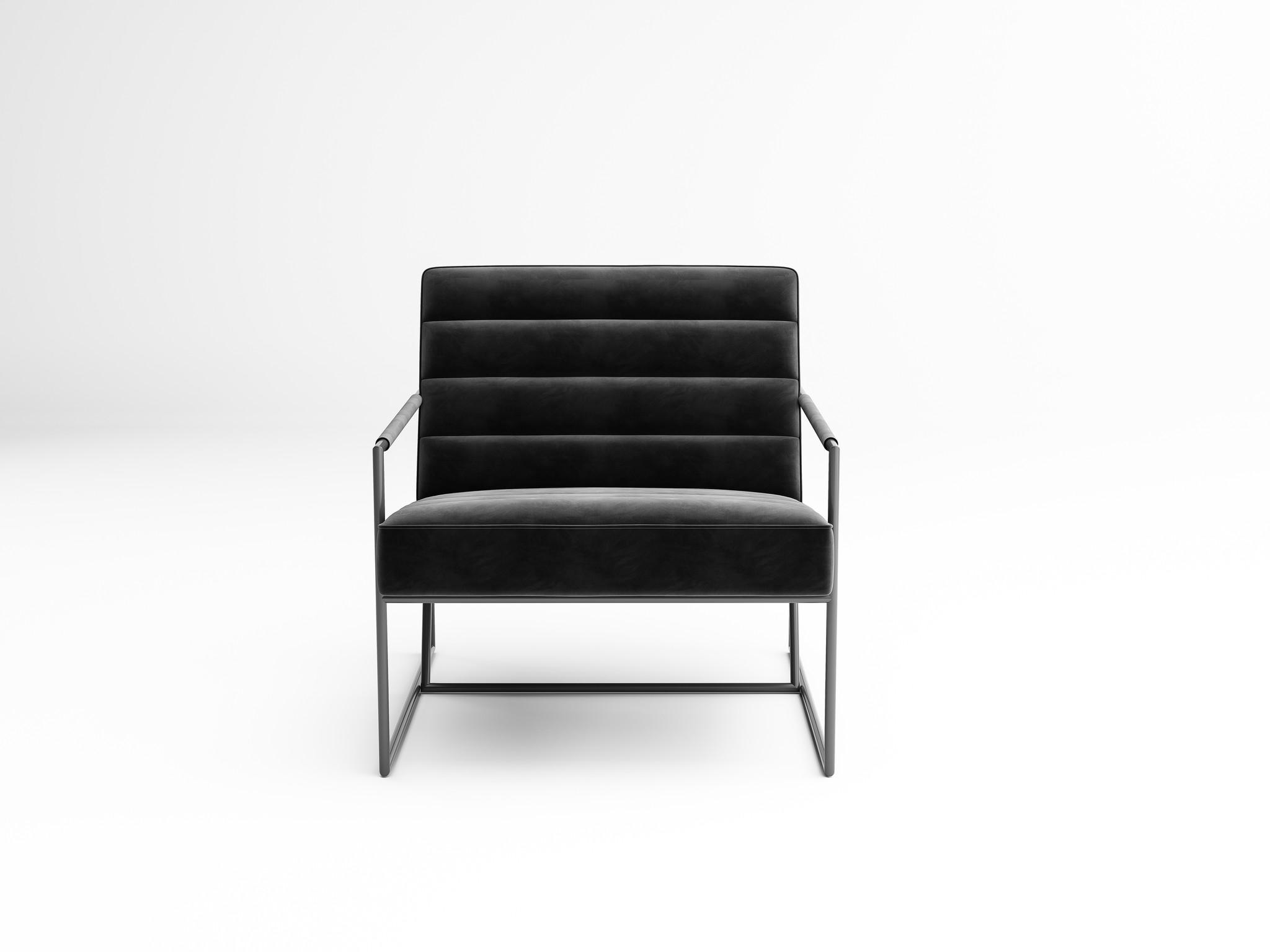 MODENA Arm Chair Black Velvet-2