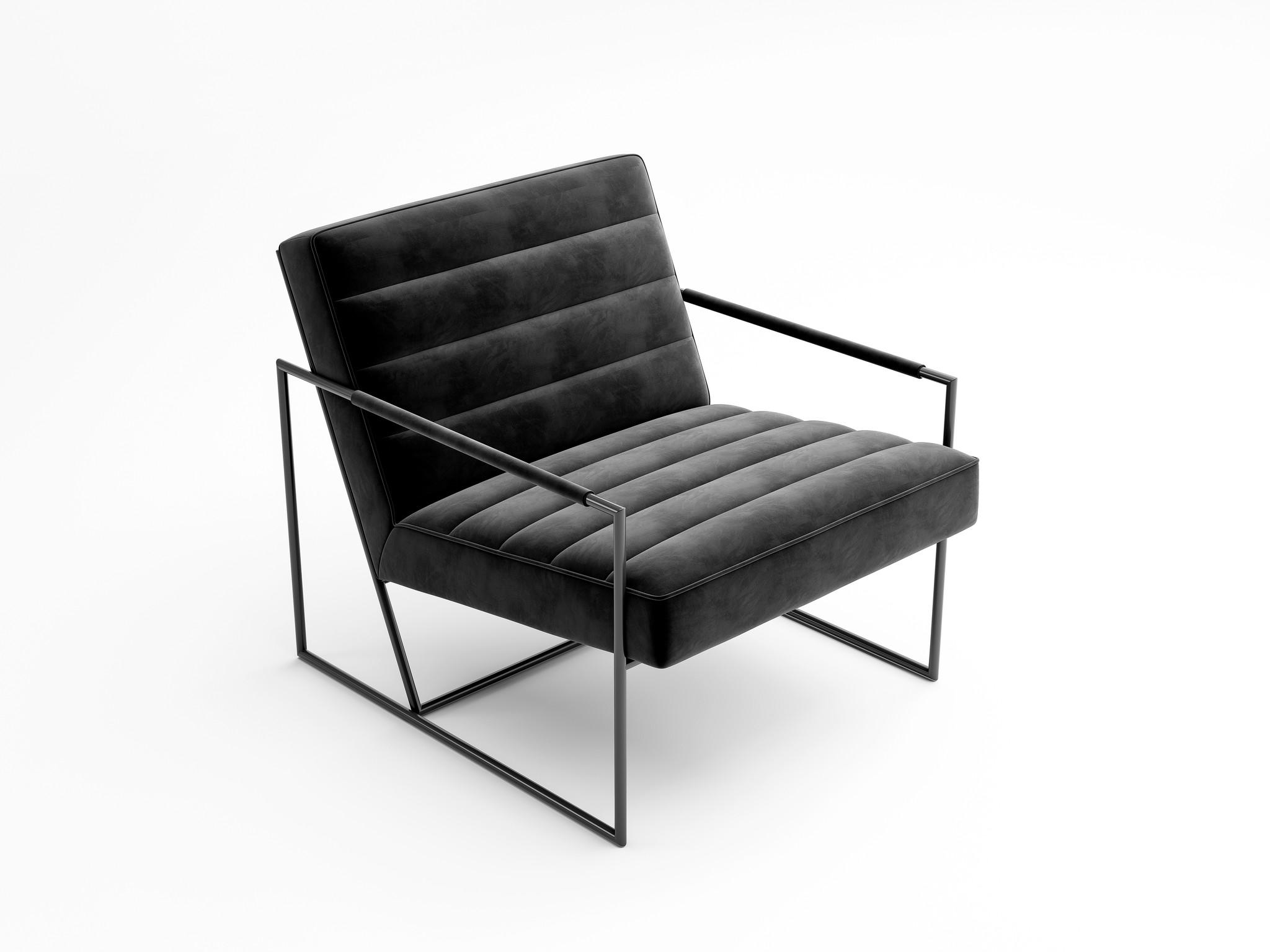 MODENA Arm Chair Black Velvet-3