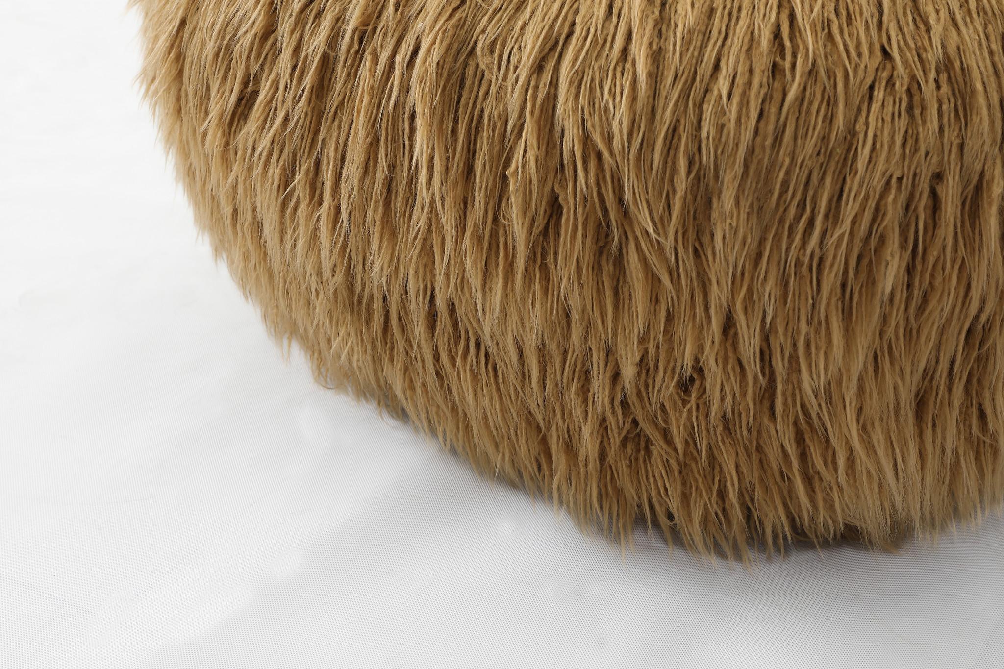 PELOSO Chair fluffy fabric-4