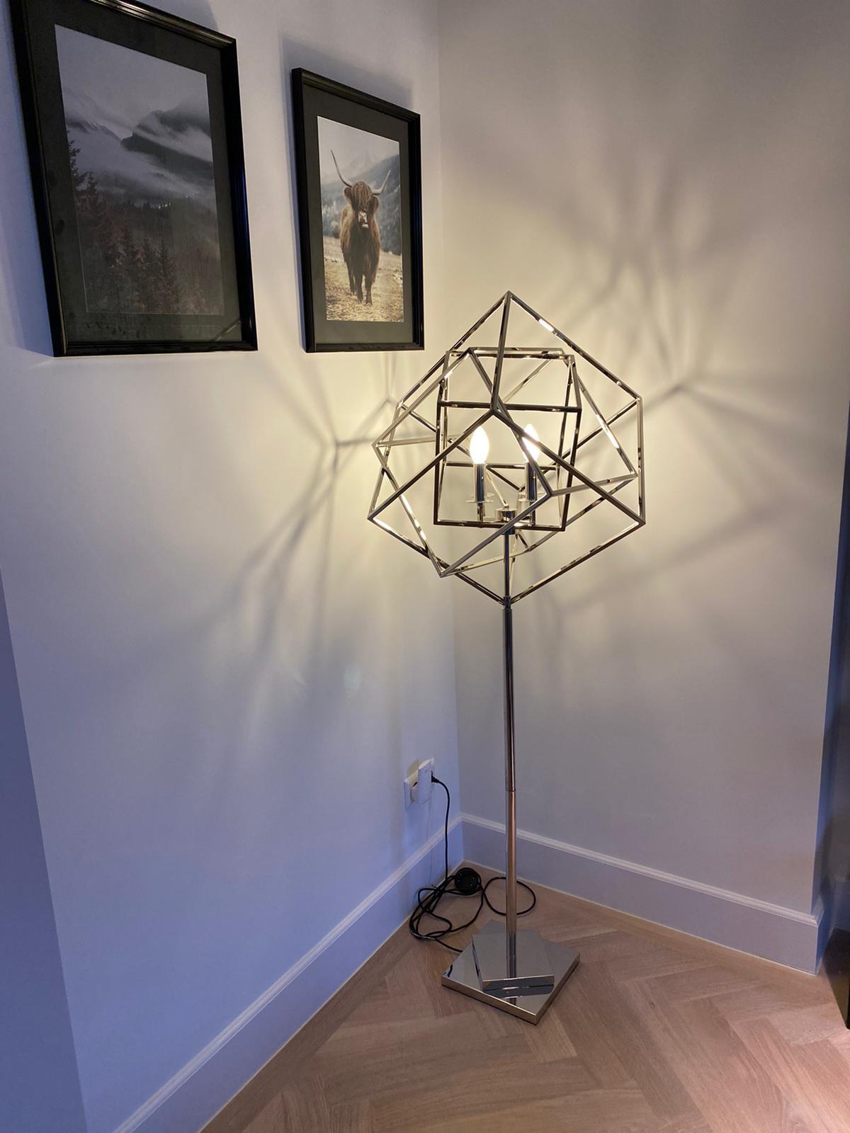 FRAME Floor Lamp Silver-2