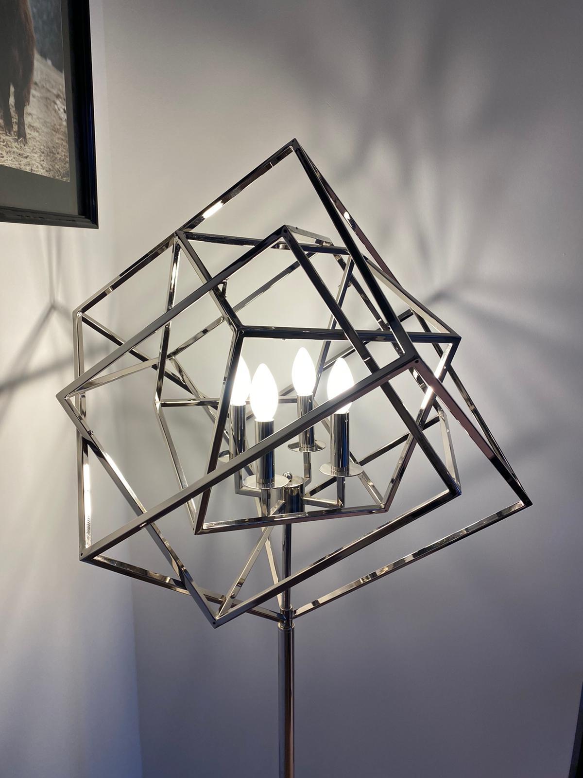 FRAME Floor Lamp Silver-3
