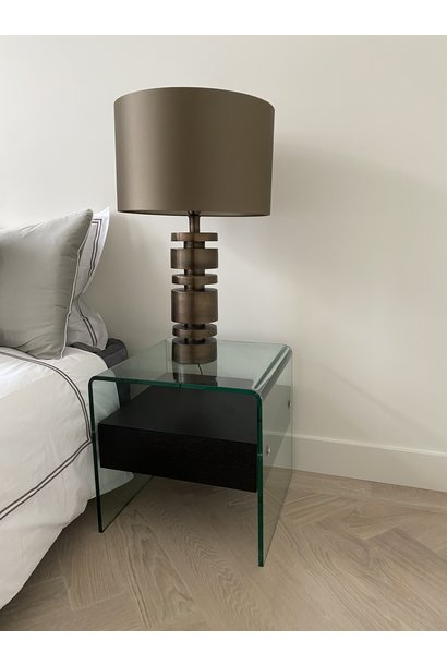 Kimberly Side Table Charcoal Oak