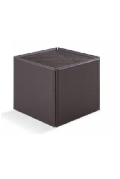 LUGANO Side Table vegan leather ceramic top
