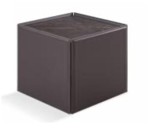 LUGANO Side Table vegan leather ceramic top-1