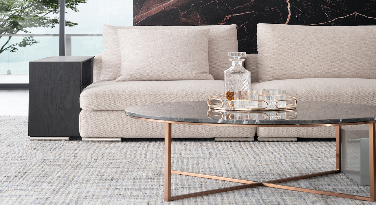 MARIBO Coffee Table rose gold brushed-2