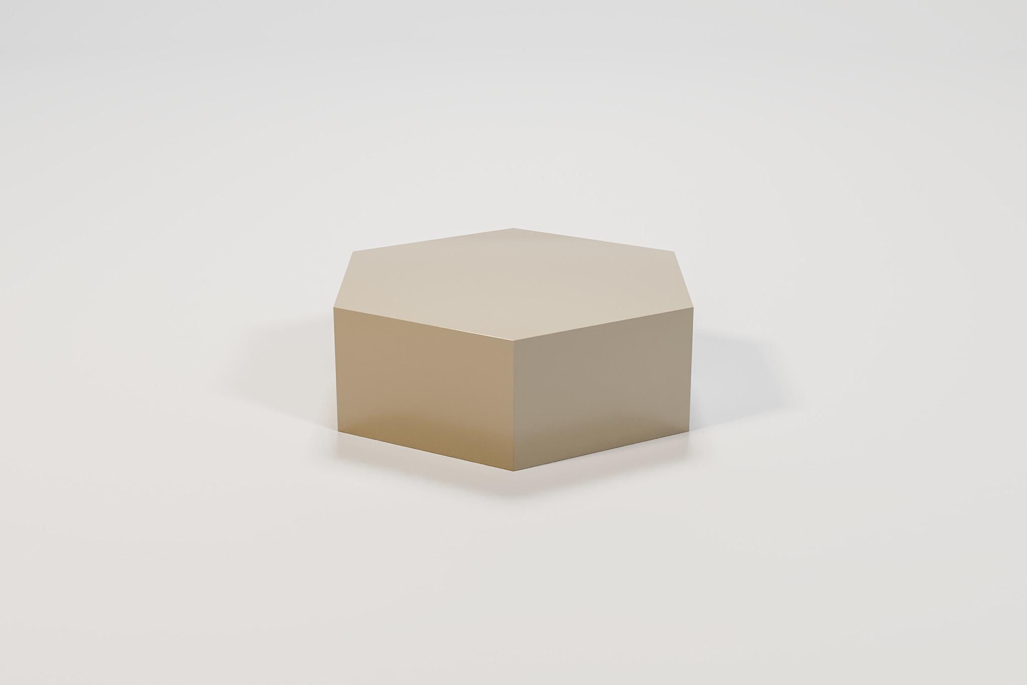 SALERNO Coffee Table Hexagon taupe-1