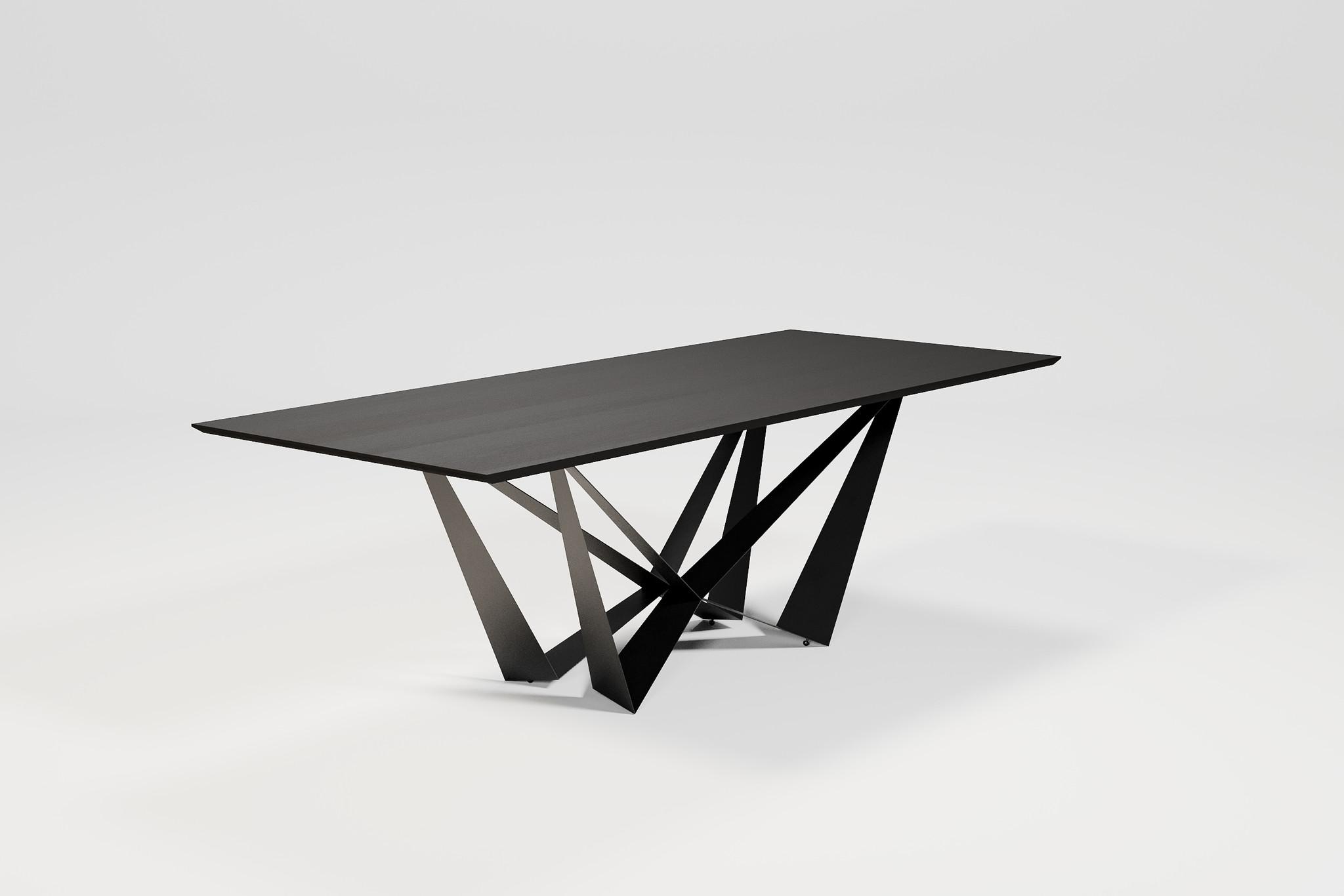 SPADON Dining Table 240cm  Charcoal Oak-2