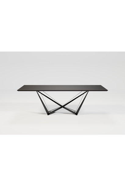 SPADON Dining Table 240cm  Charcoal Oak