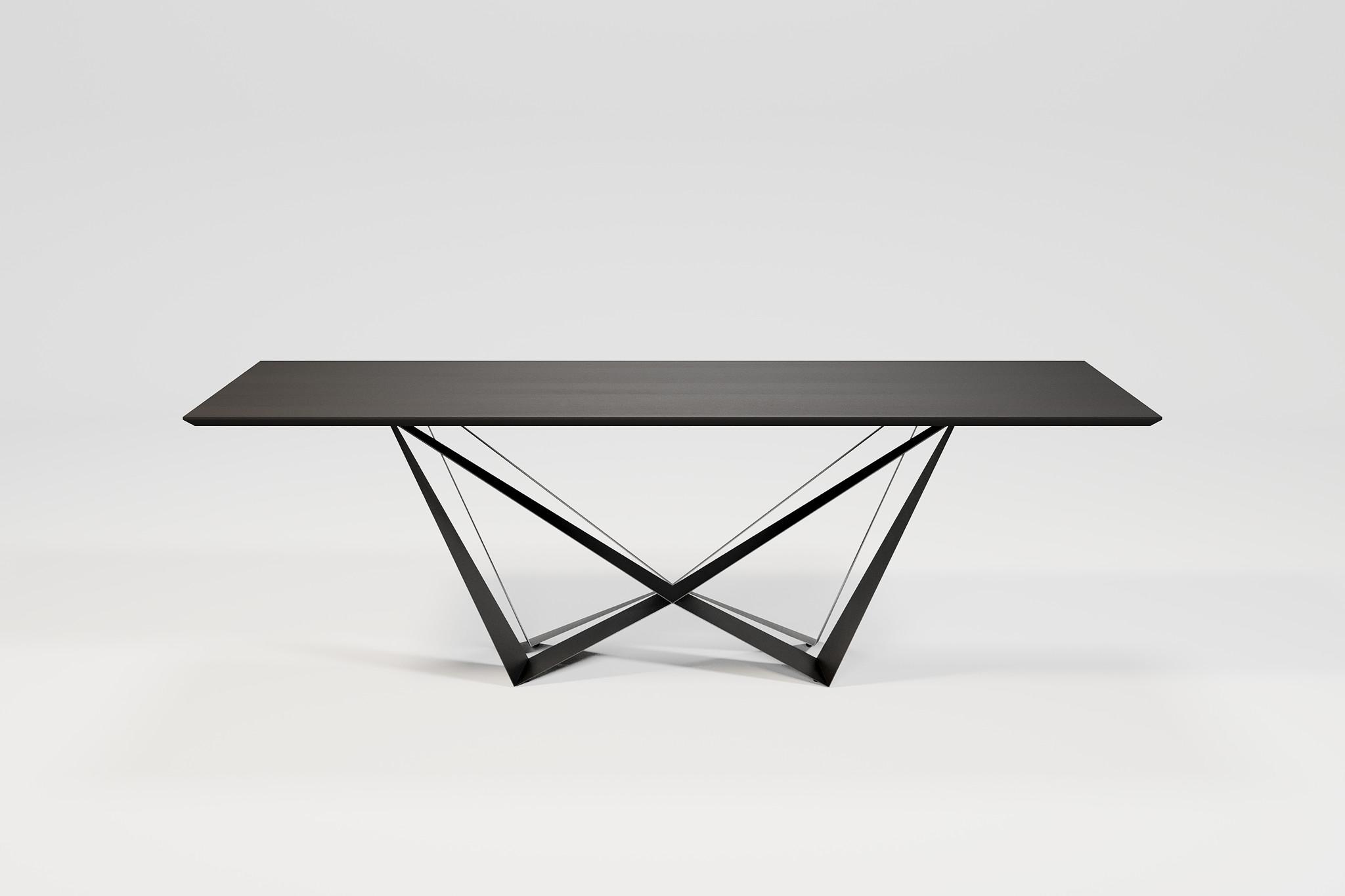 SPADON Dining Table 240cm  Charcoal Oak-1