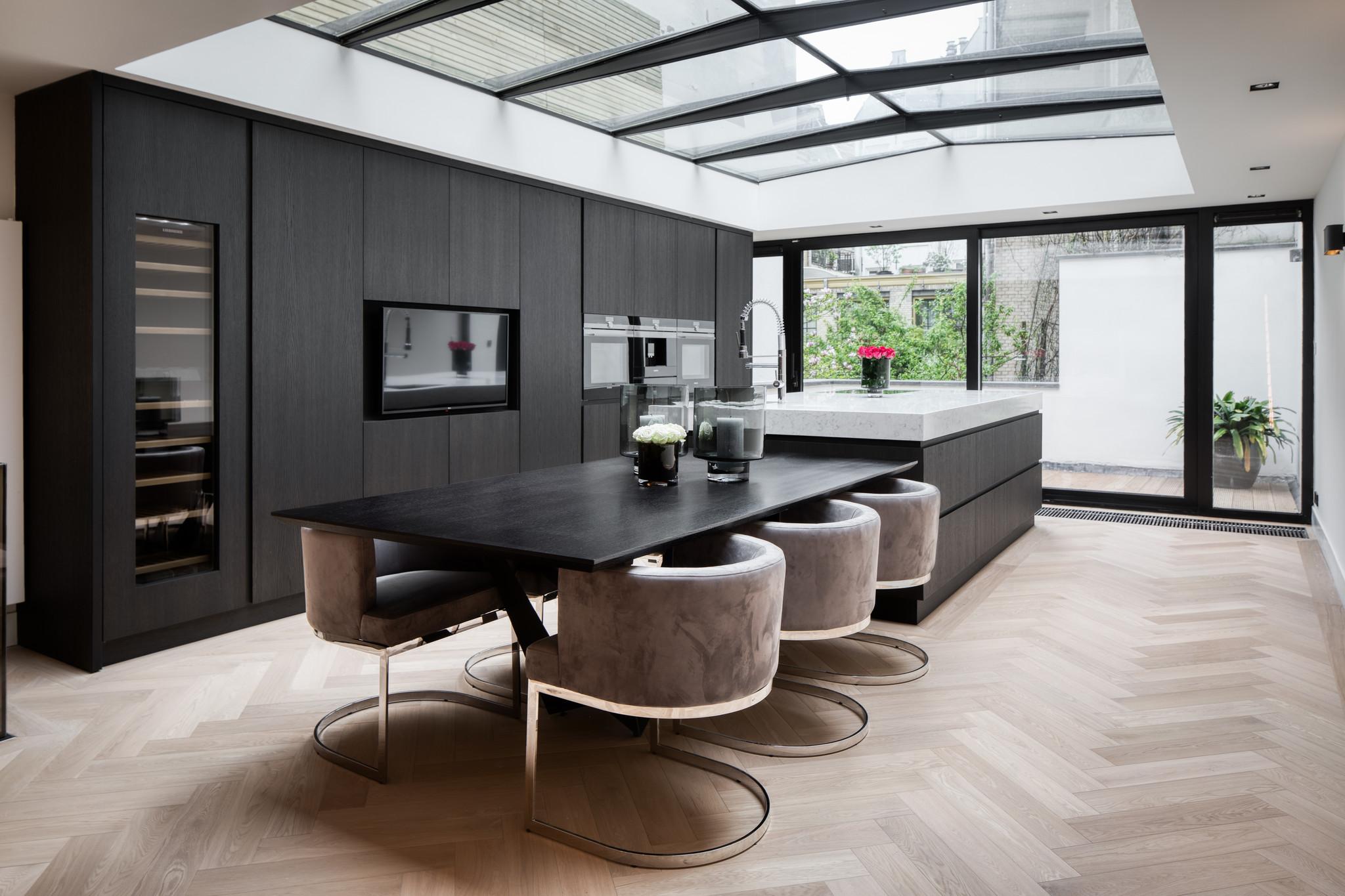 SPADON Dining Table 240cm  Charcoal Oak-4