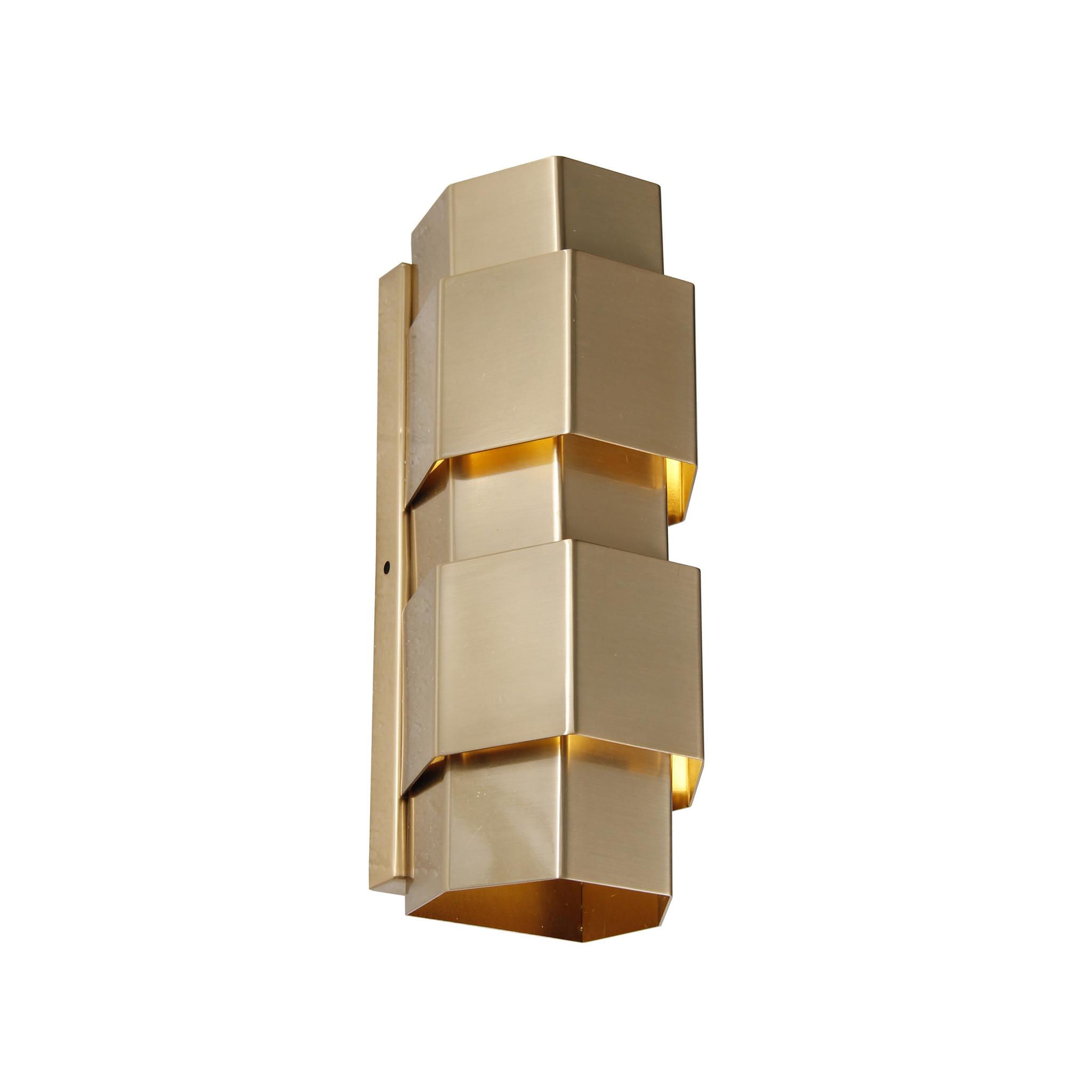 SAINT Wall light hexagon brass-1