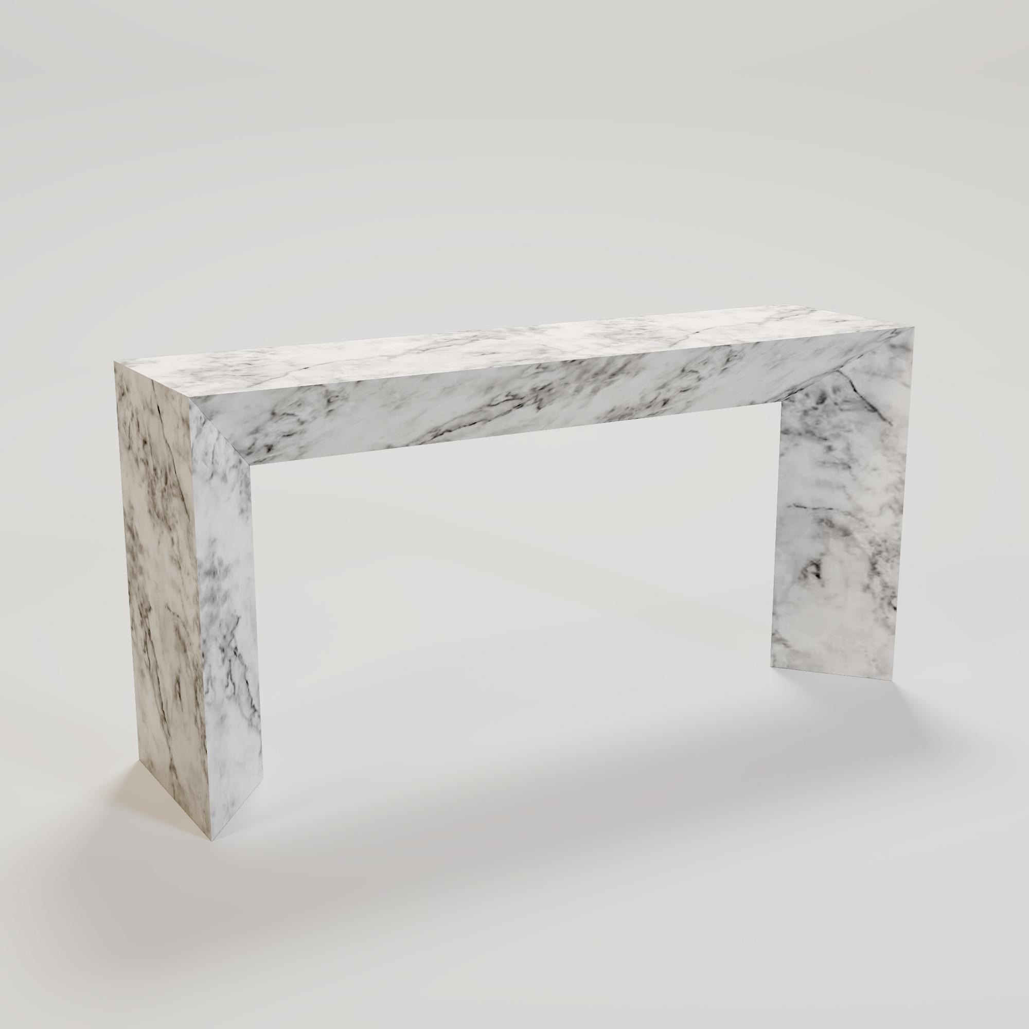 FRENCHI Console Carrara marble large-1