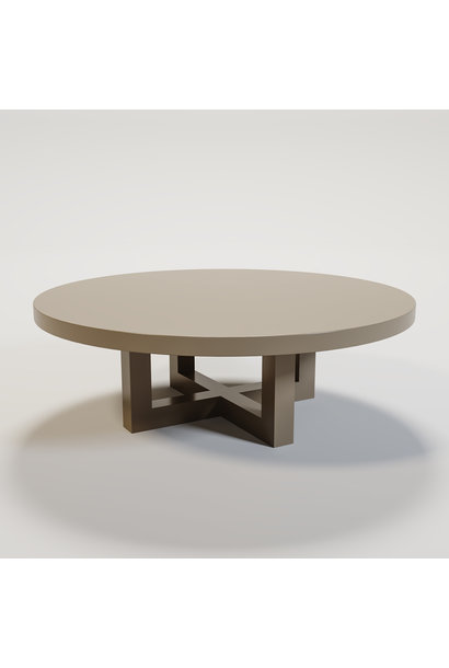 SOHO Coffee table round 120cm mat taupe