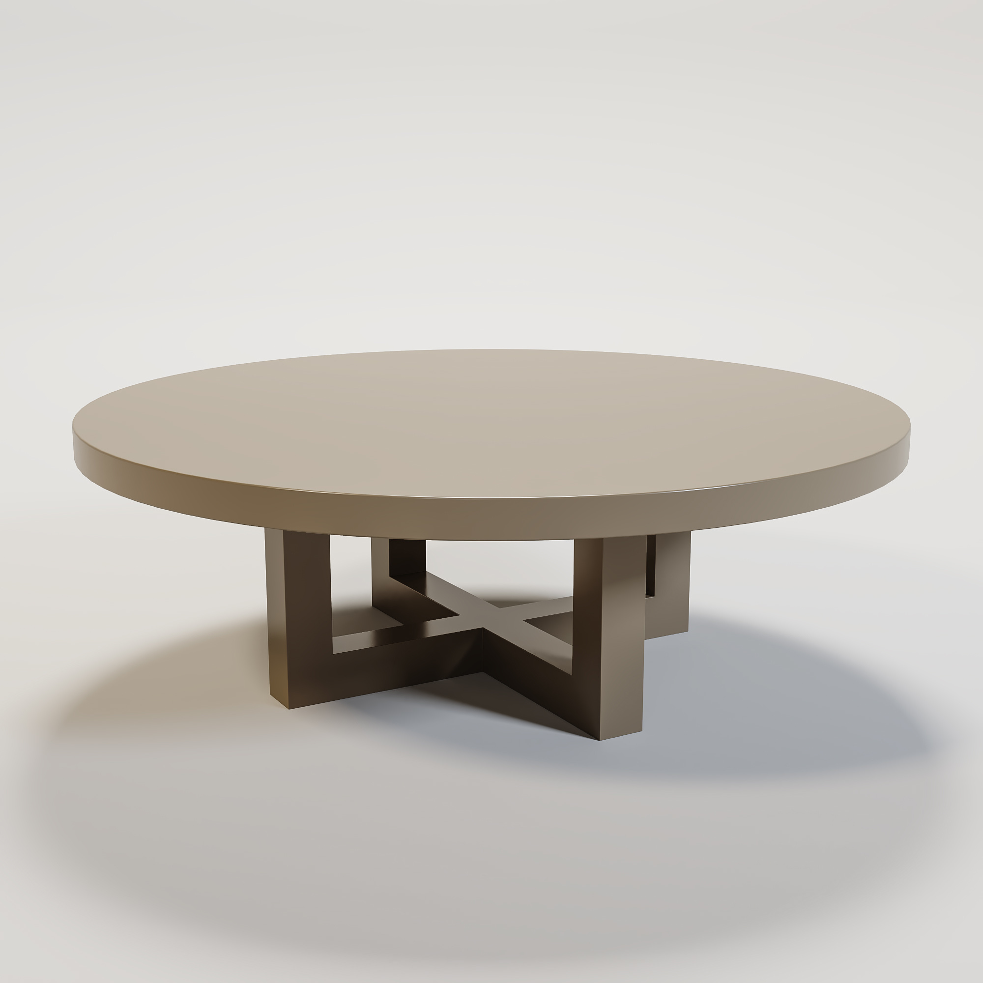 SOHO Coffee table round 120cm mat taupe-1