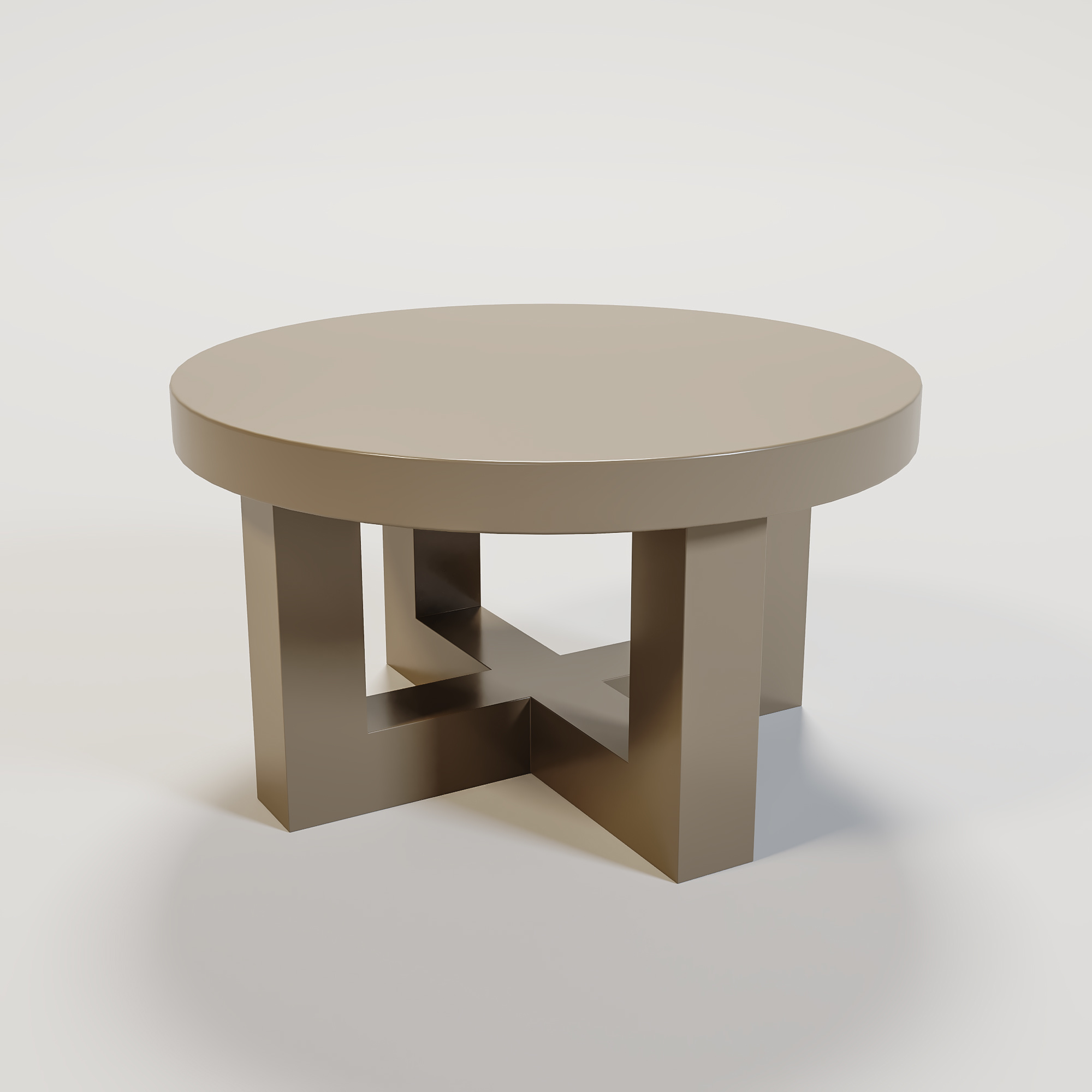 SOHO Coffee table round 60cm mat taupe-1