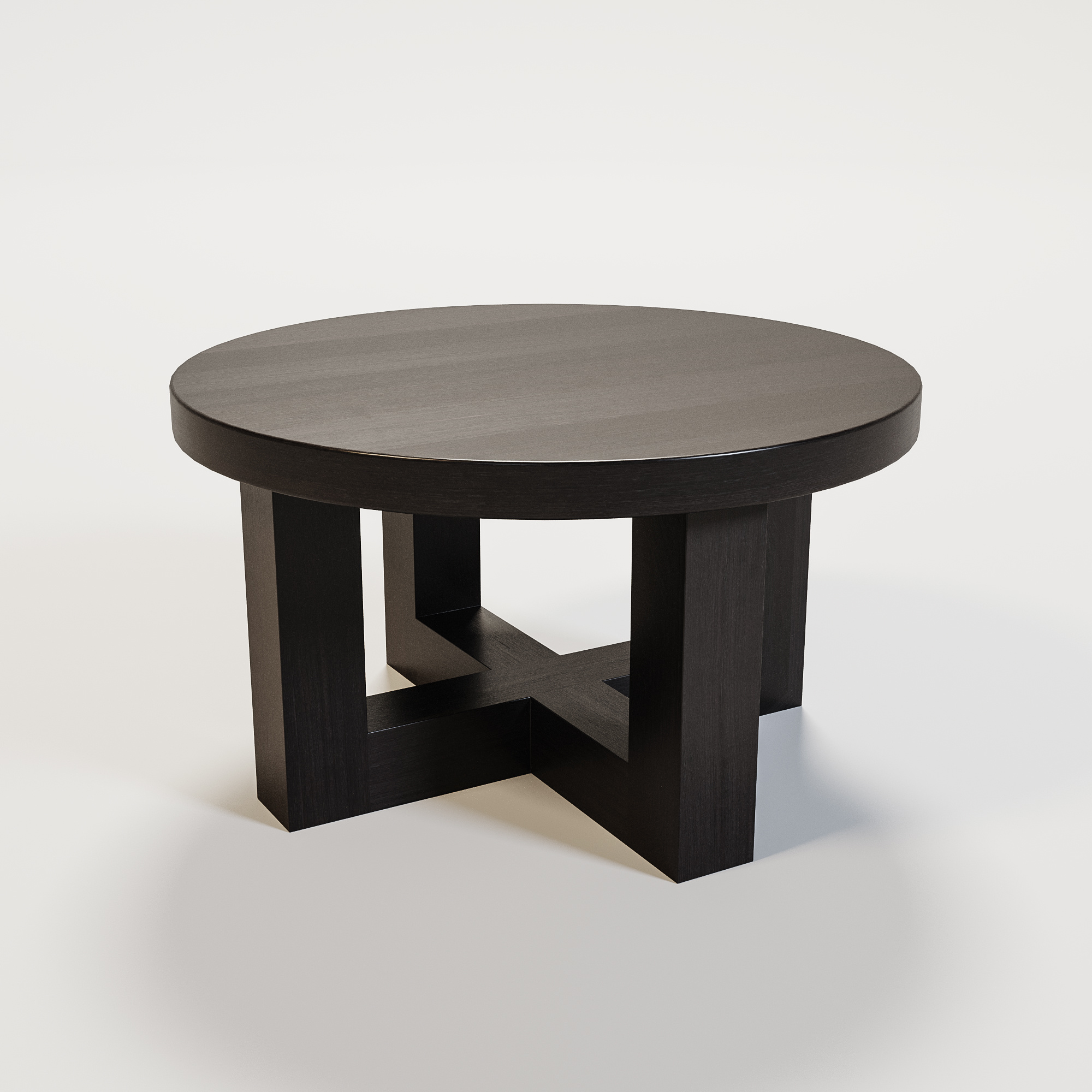 SOHO Coffee table round 60cm smoke wood-1