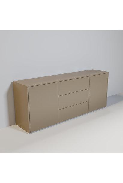JAMES Cabinet 200cm mat taupe