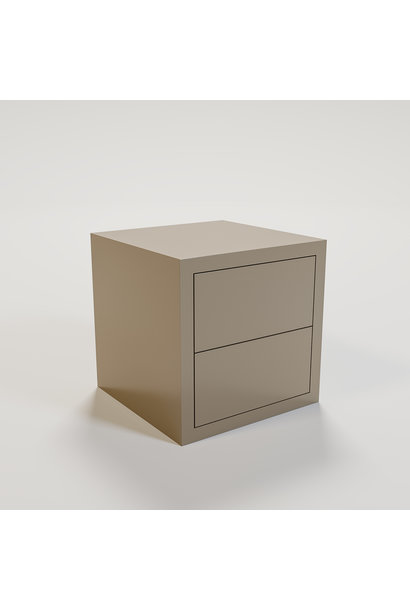 JAMES Night stand 50x50cm mat taupe