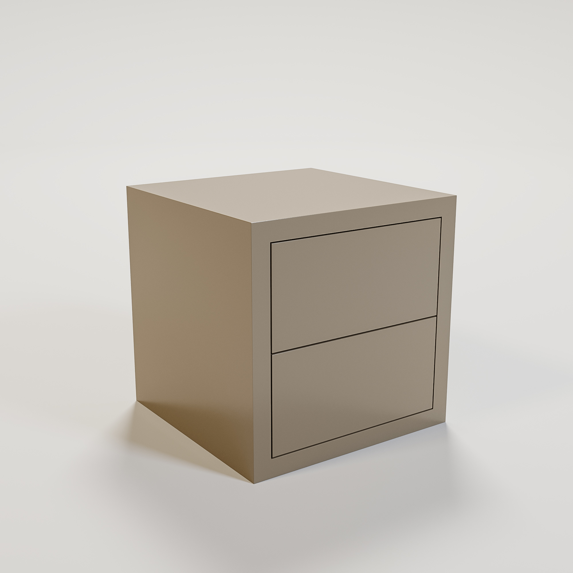 JAMES Night stand 50x50cm mat taupe-1
