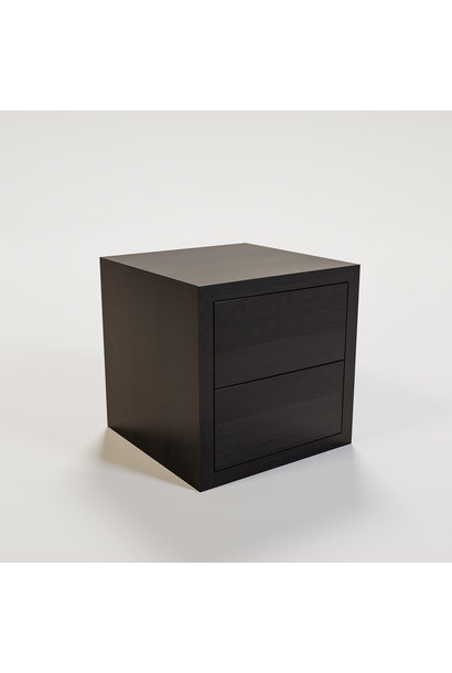 JAMES Nightstand 50x50cm smoke wood
