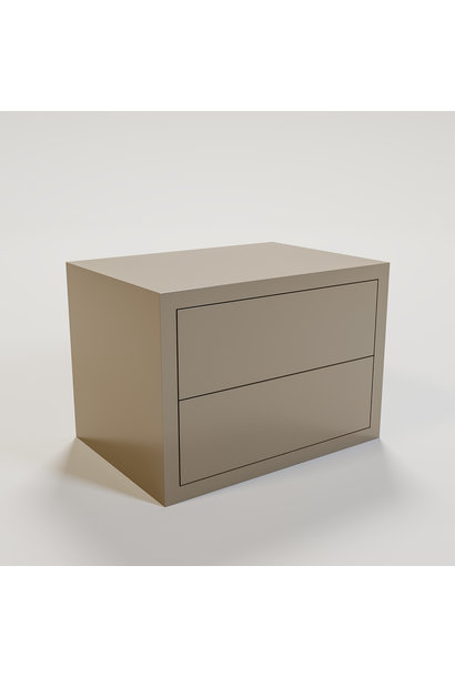 JAMES Night stand 70x50cm mat taupe