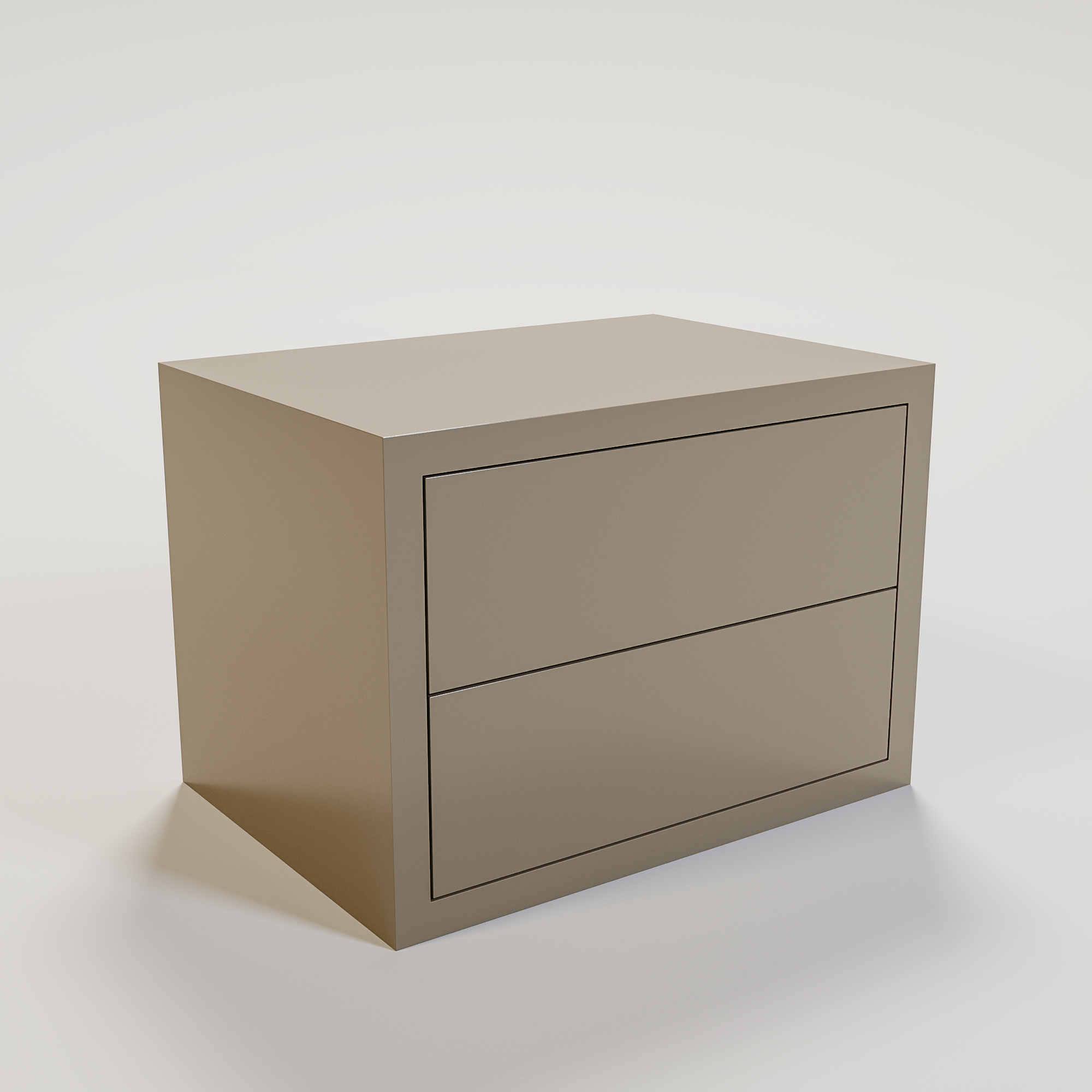 JAMES Night stand 70x50cm mat taupe-1