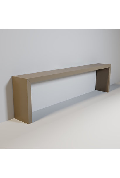 MAYFAIR Console mat taupe 300cm