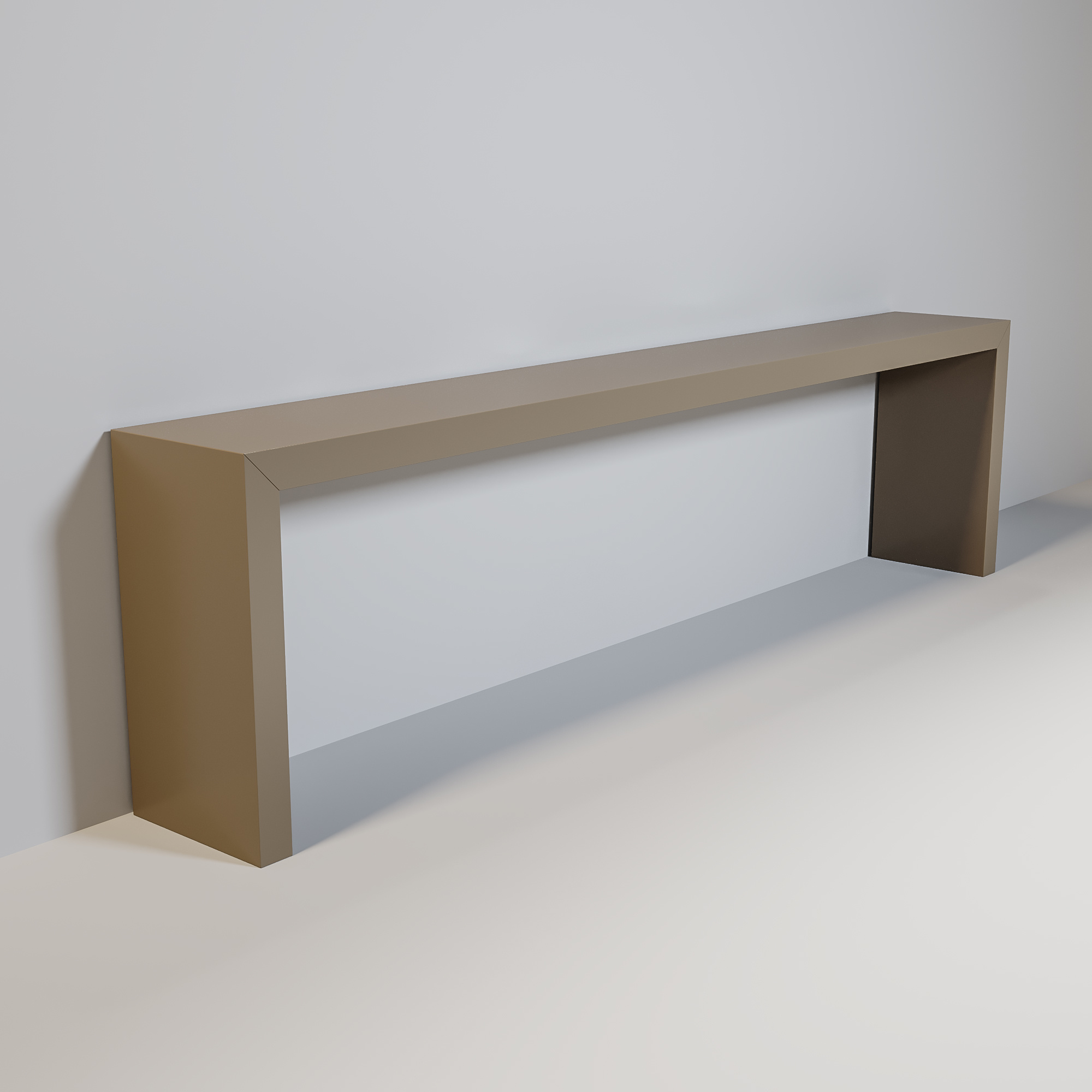 MAYFAIR Console mat taupe 300cm-1