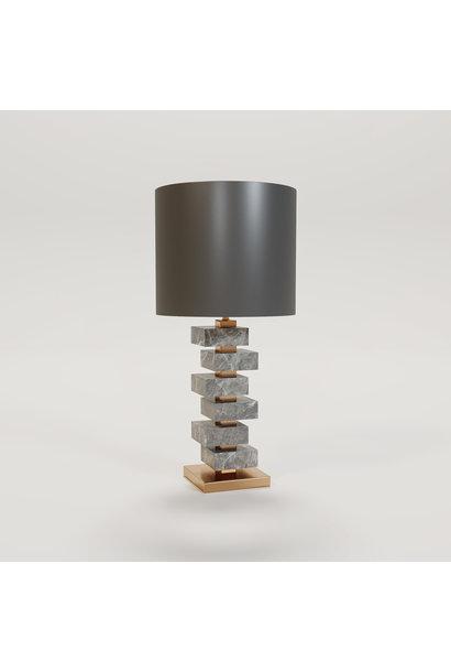 MAYFAIR Table Lamp light grey marble