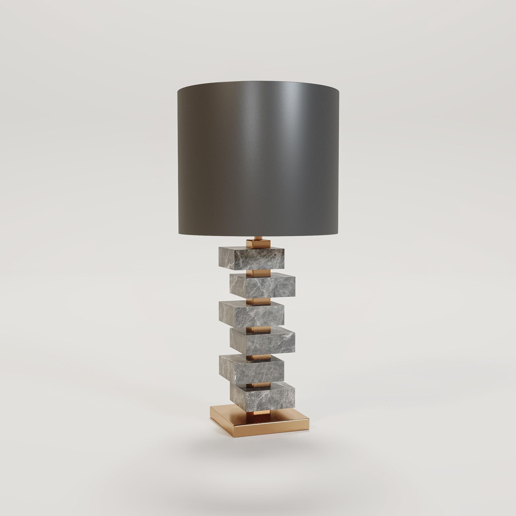MAYFAIR Table Lamp light grey marble-1