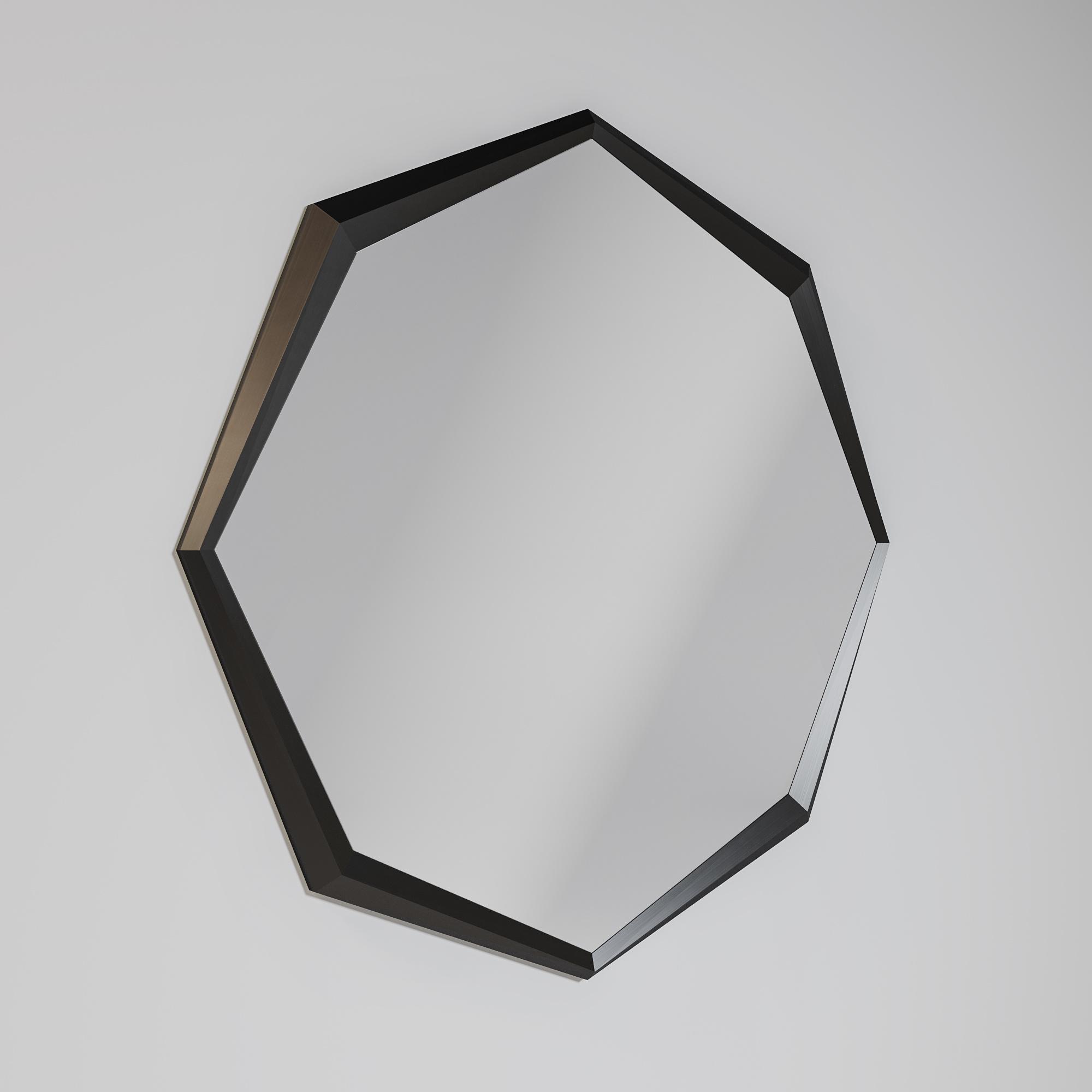 GARNET  Wall mirror 180cm brushed Gun Black-1