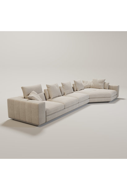 VENICE  Sofa Beige Canvas weave fabric