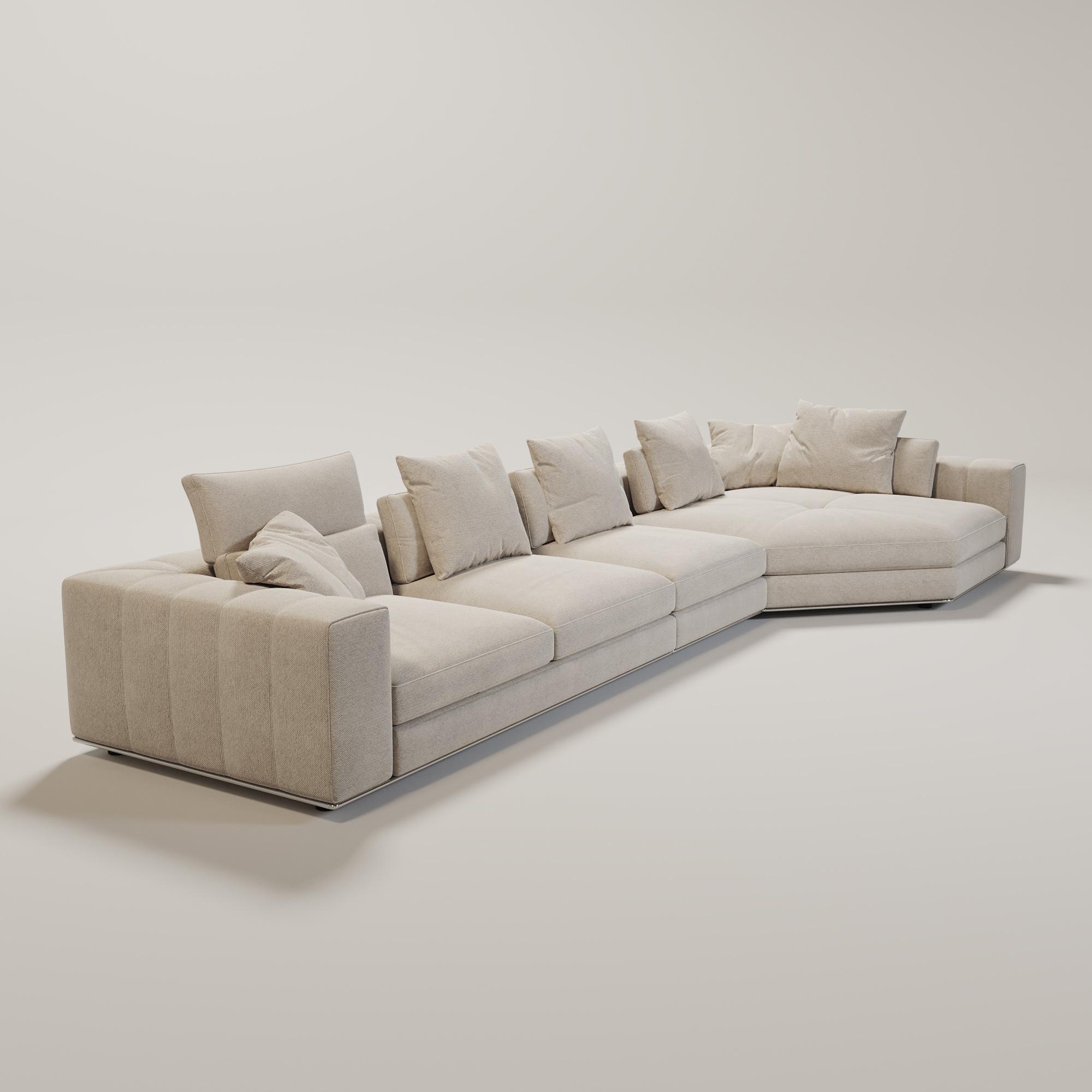 VENICE  Sofa Beige Canvas weave fabric-1