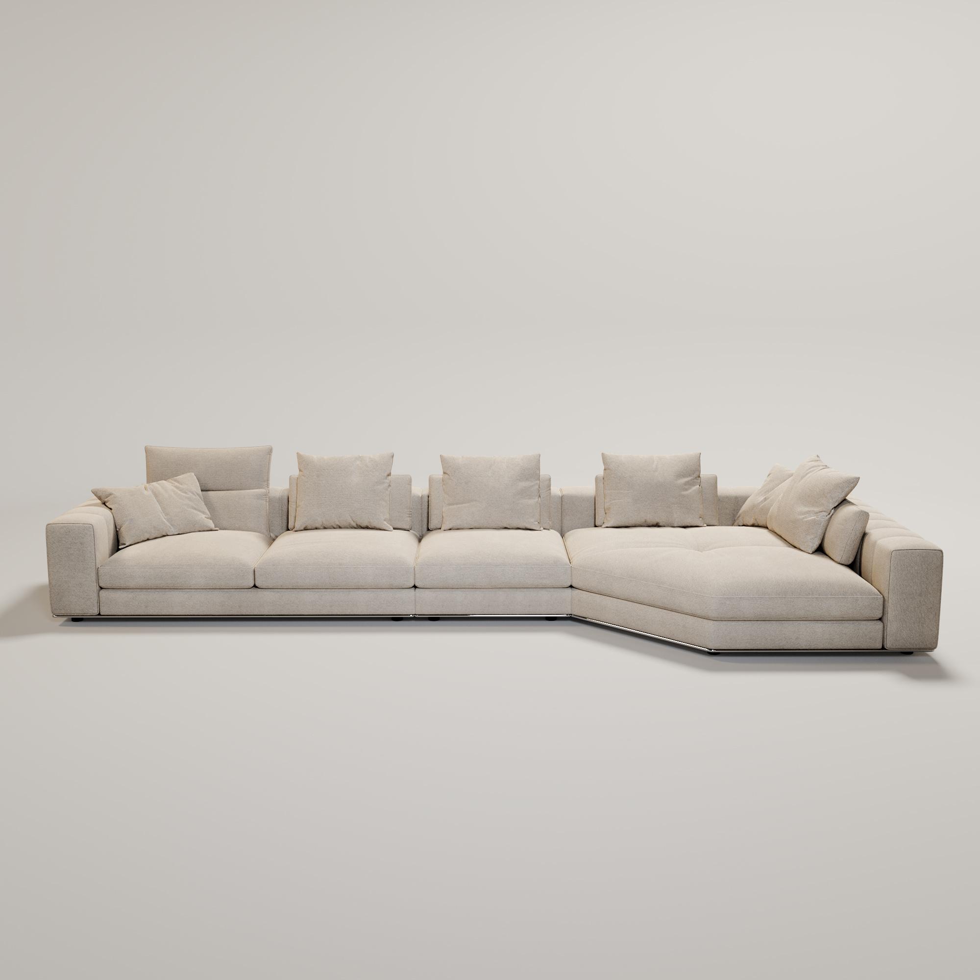 VENICE  Sofa Beige Canvas weave fabric-2