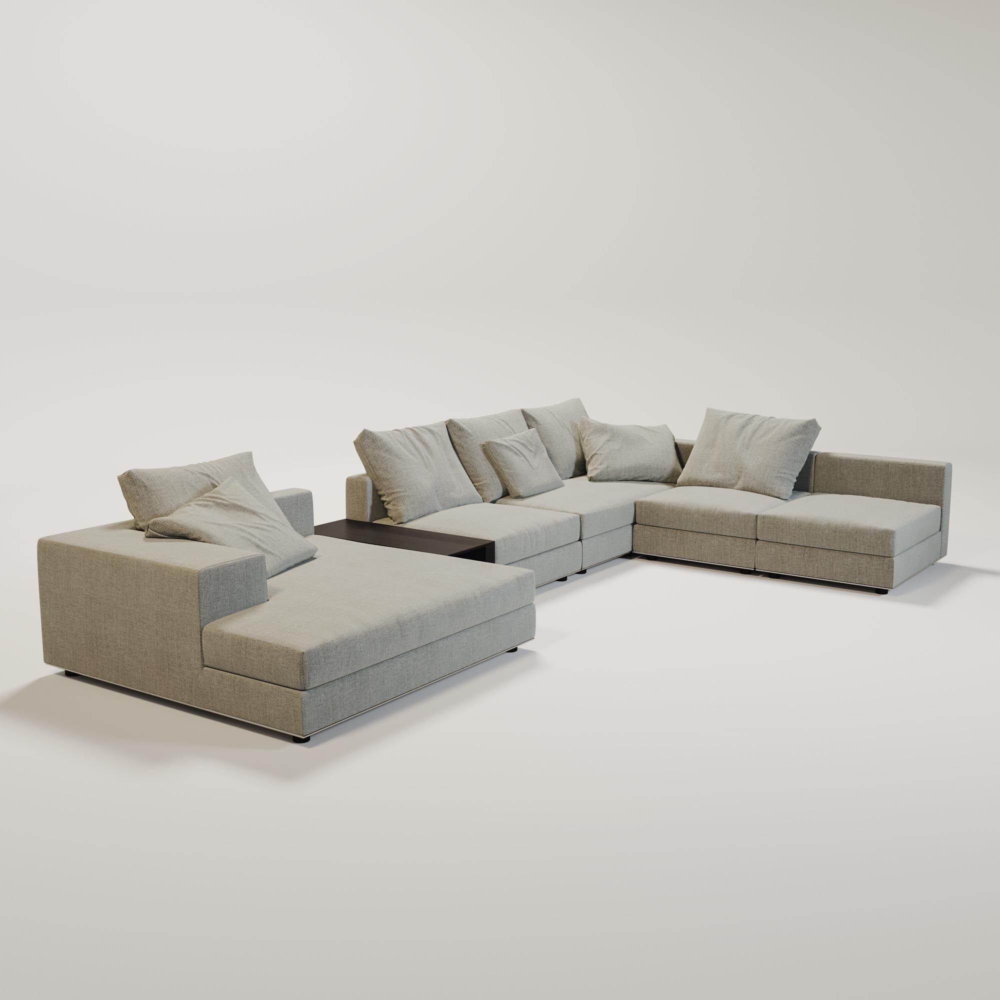 MASSIMO  Sofa Grey weave fabric-1