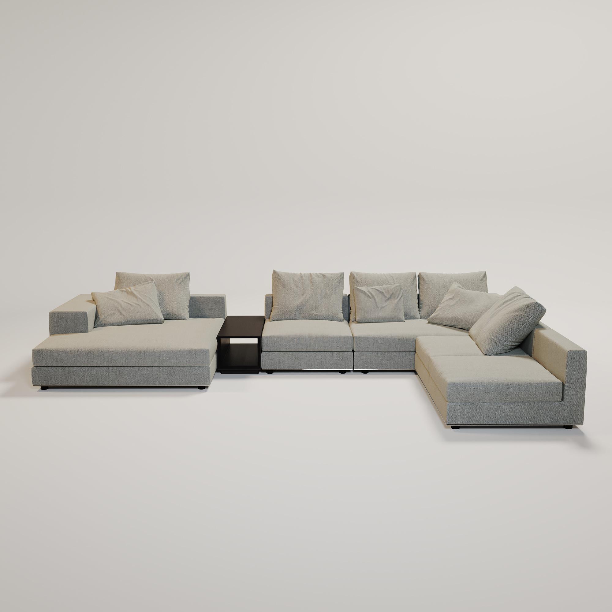MASSIMO  Sofa Grey weave fabric-2
