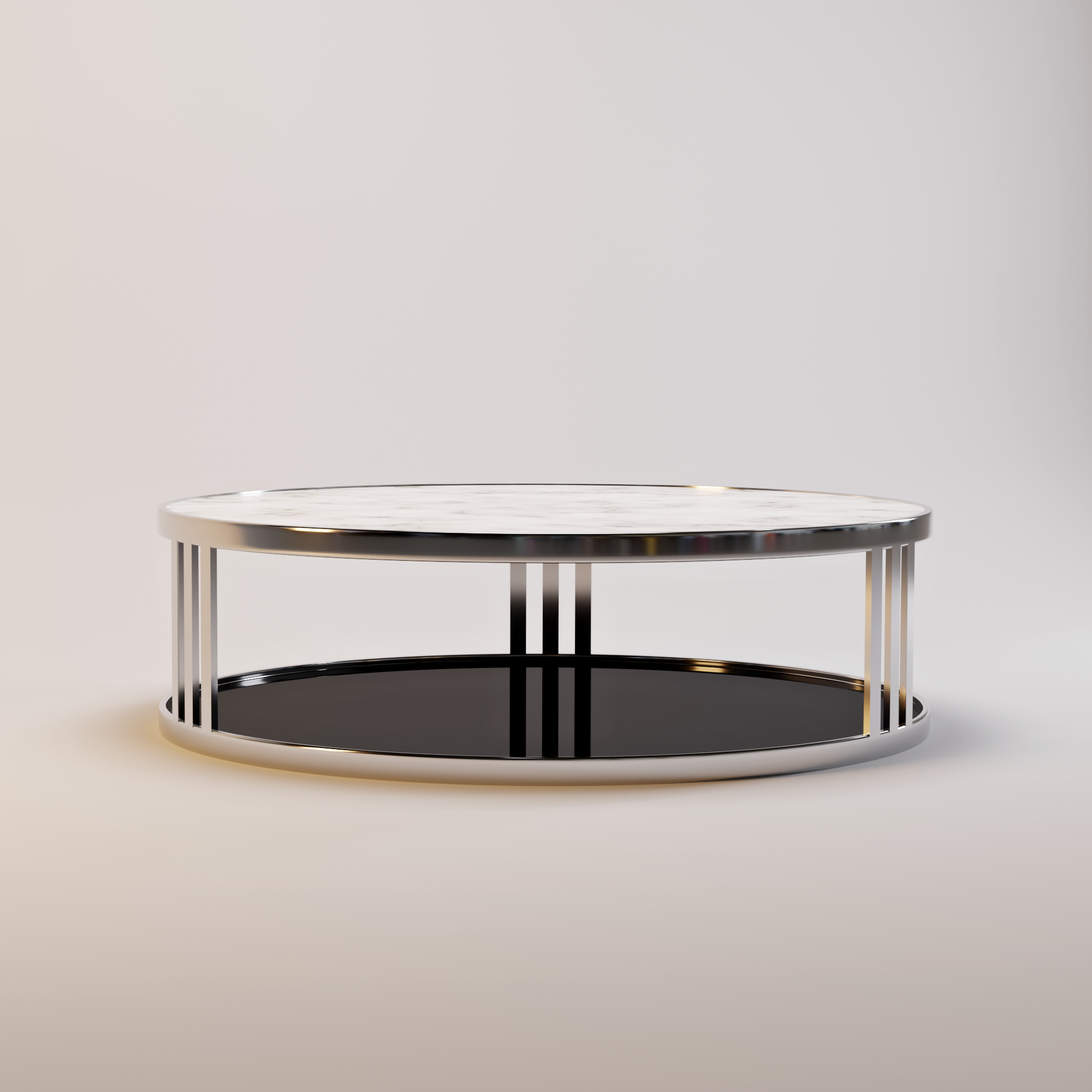 FABRIO coffee table white marble-1