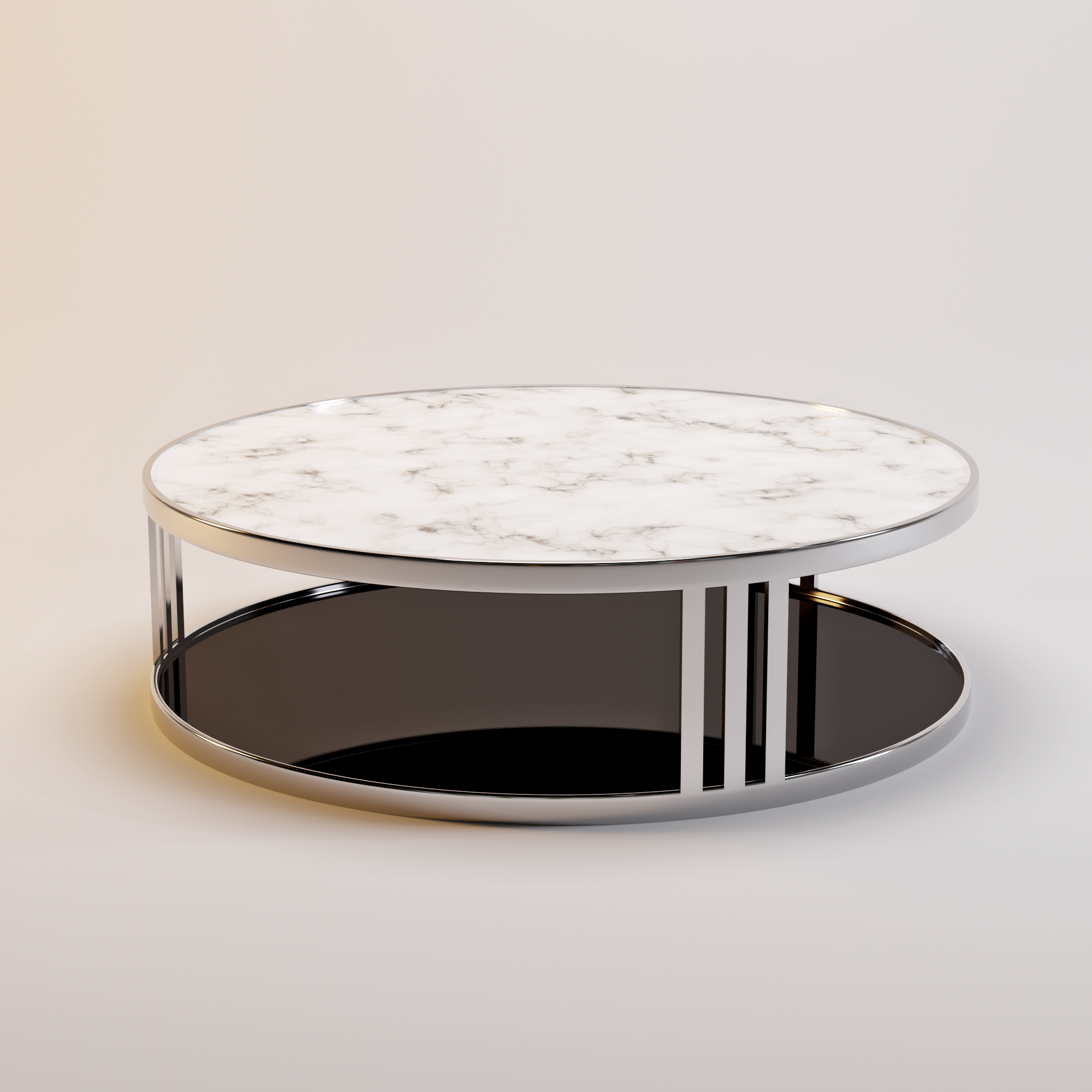 FABRIO coffee table white marble-2